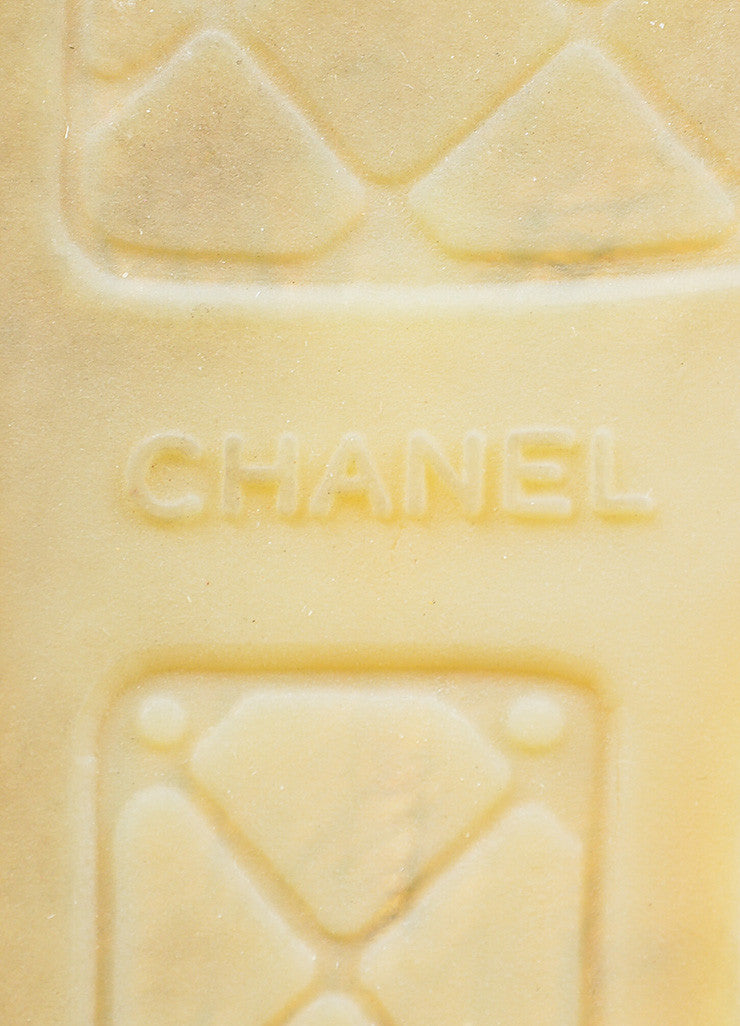 Blue Leather Chanel 'CC' Slip On Espadrilles Brand