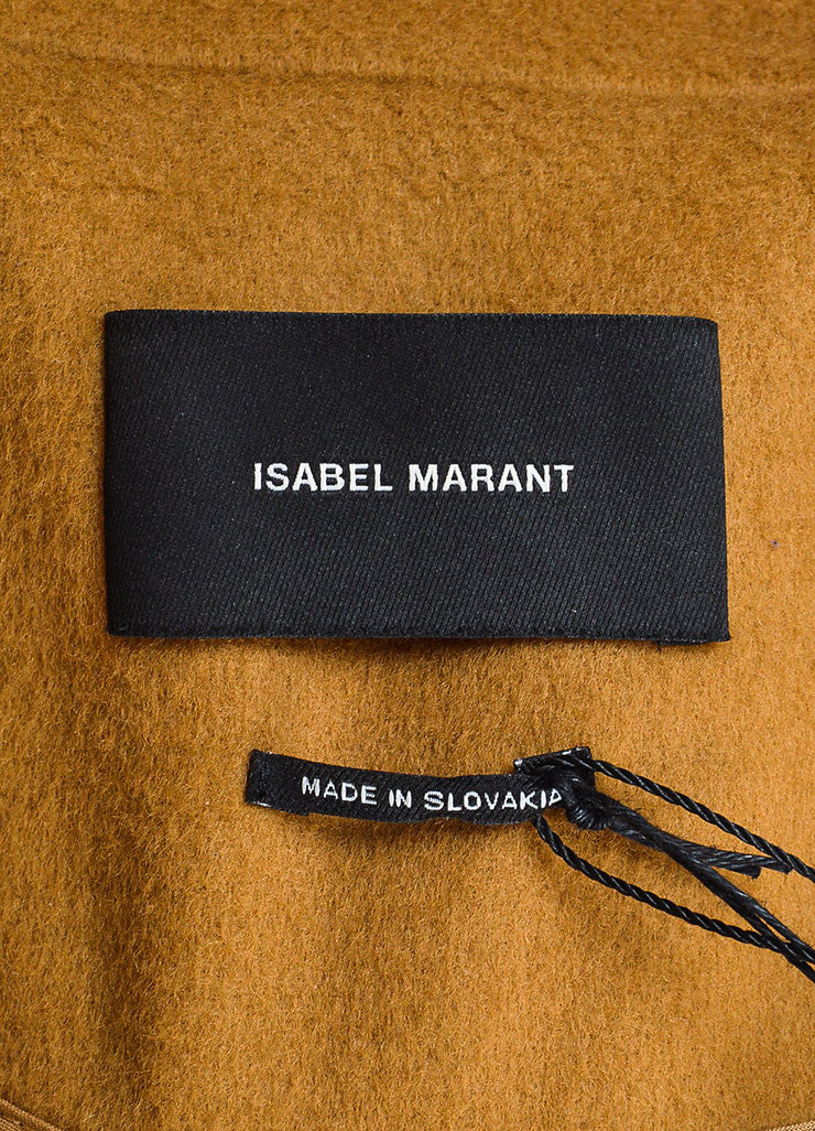 "Camel Tan Isabel Marant Wool and Cashmere ""Carlen Caban"" Coat Brand"