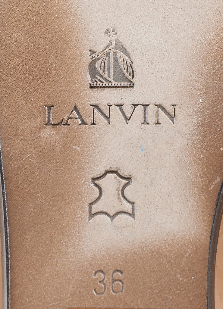 Lanvin Nude Patent Leather Elastic Ballerina Flats Brand