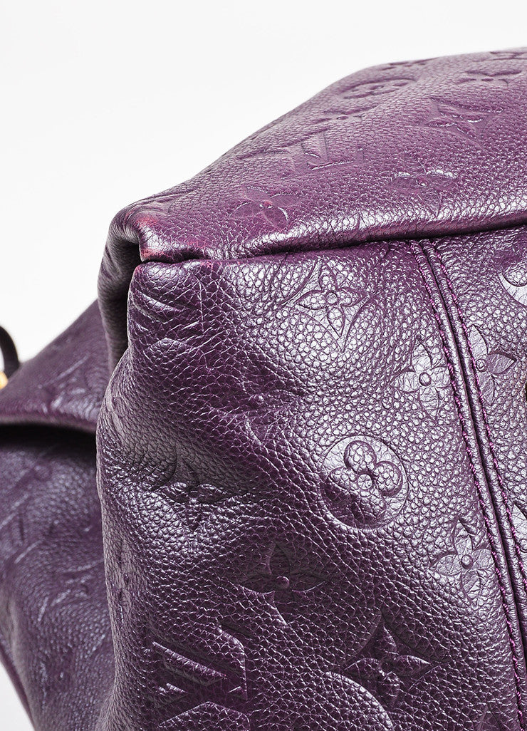 Louis Vuitton Aubergine Purple Monogram Empreinte Leather Artsy MM Bag Detail 3