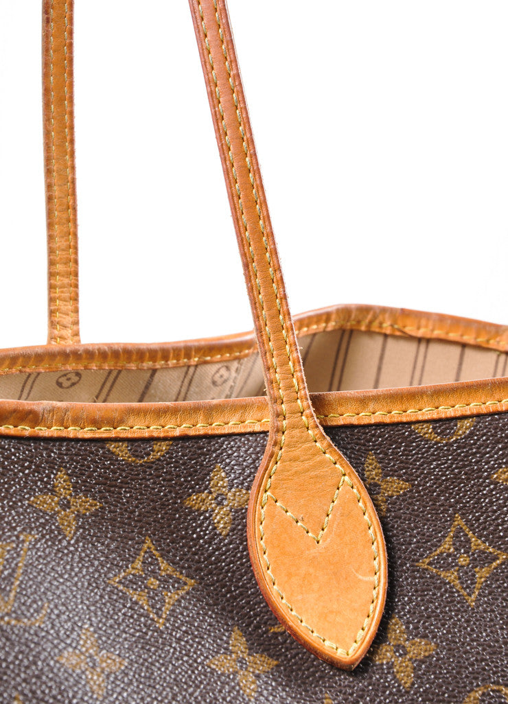 "Louis Vuitton Brown Monogram Canvas ""Neverfull GM"" Shoulder Tote Bag Detail 2"