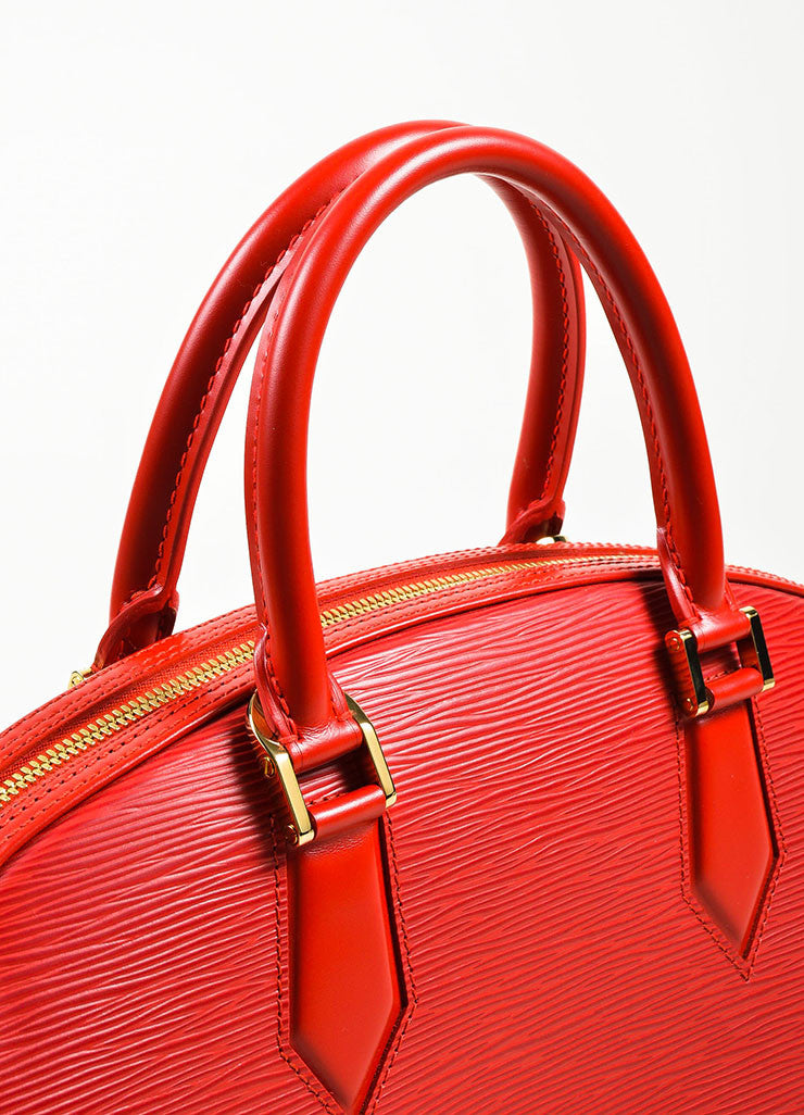 "Louis Vuitton Red Epi Leather ""Jasmin"" Handbag Detail 2"
