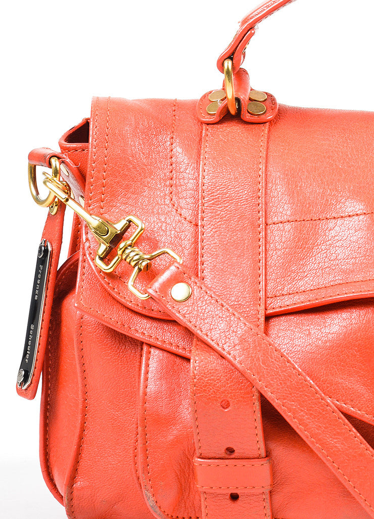 Red Proenza Schouler Leather Medium PS1 Satchel Bag Detail 2