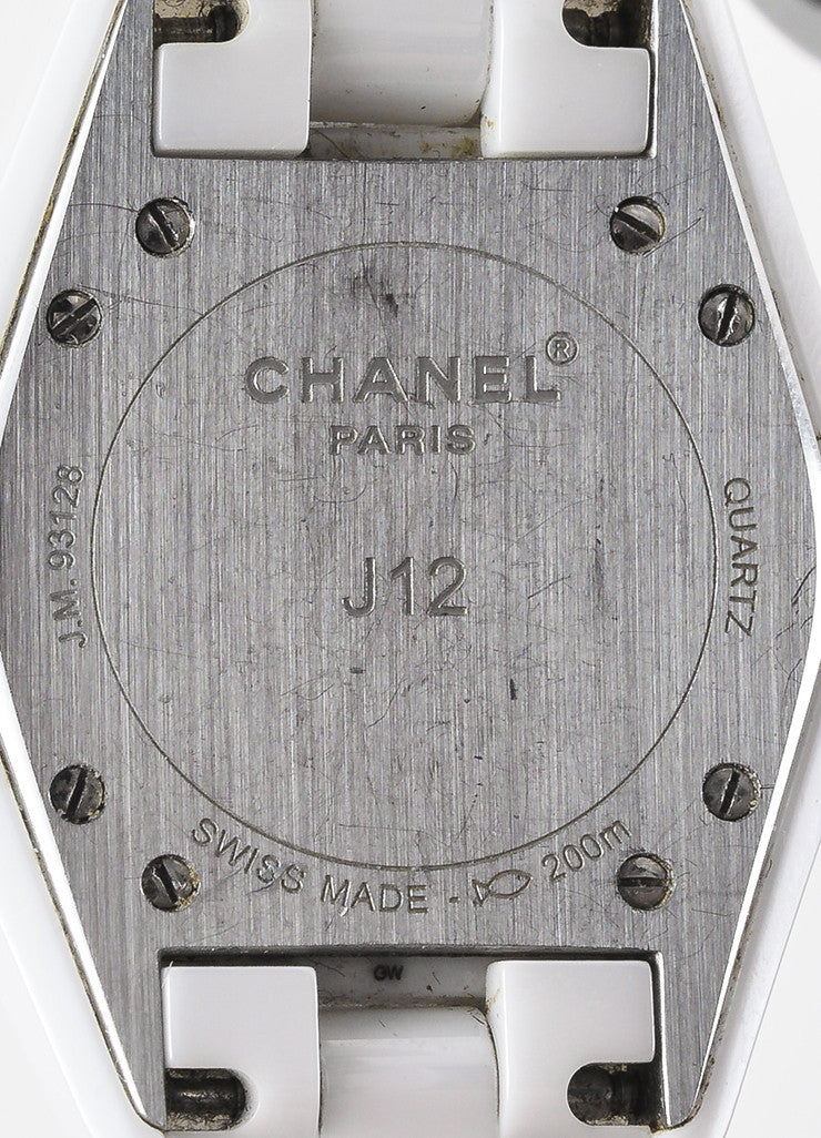 "Chanel White Ceramic Diamond Bezel ""J12"" Quartz Bracelet Watch Brand"