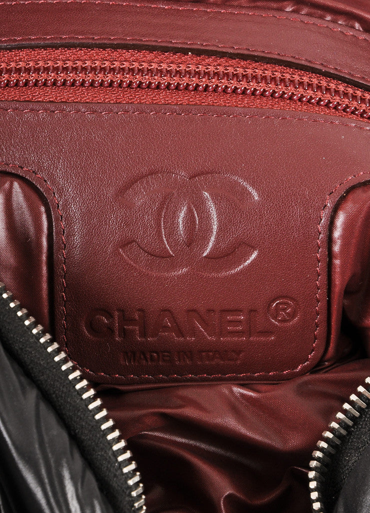 Chanel Black Nylon Coco Cocoon Puffer Messenger Crossbody Bag Brand