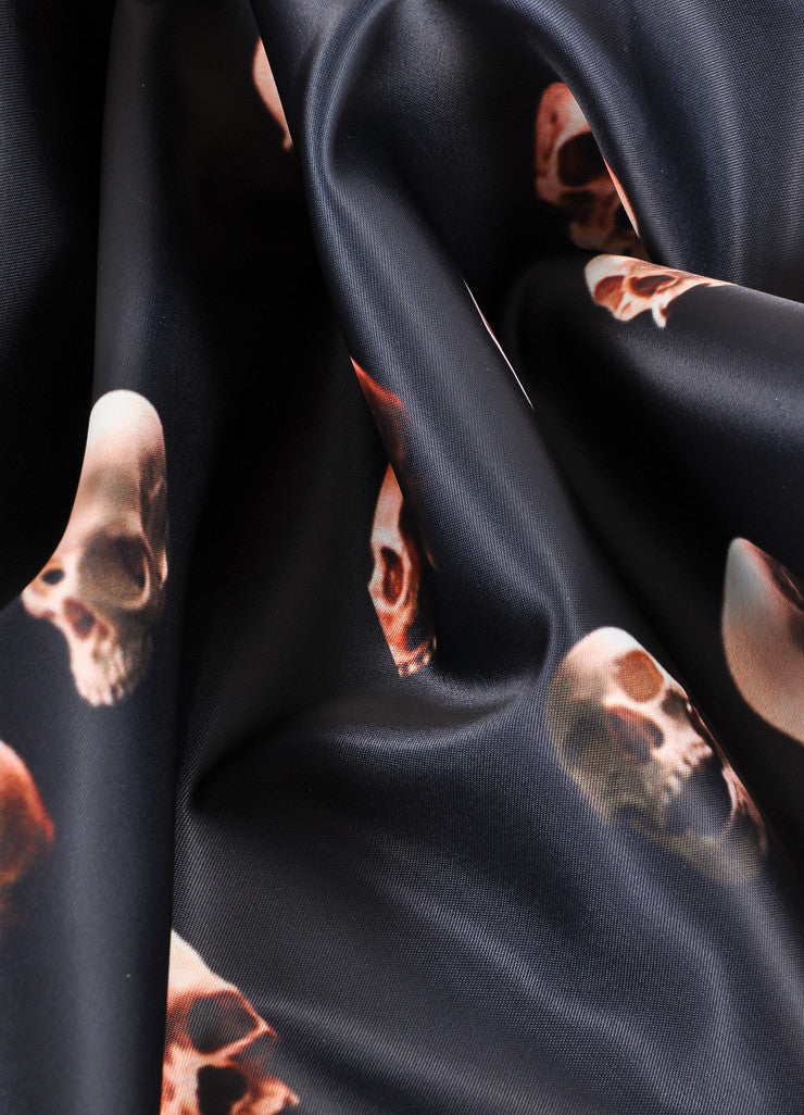 Givenchy Black Skull Scarf Detail