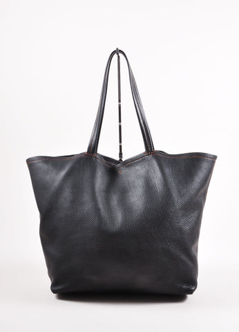 Henry Beguelin for Barneys Black Leather Tote Bag