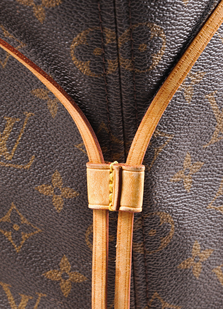 "Louis Vuitton Brown Monogram Canvas ""Neverfull GM"" Shoulder Tote Bag Detail 3"