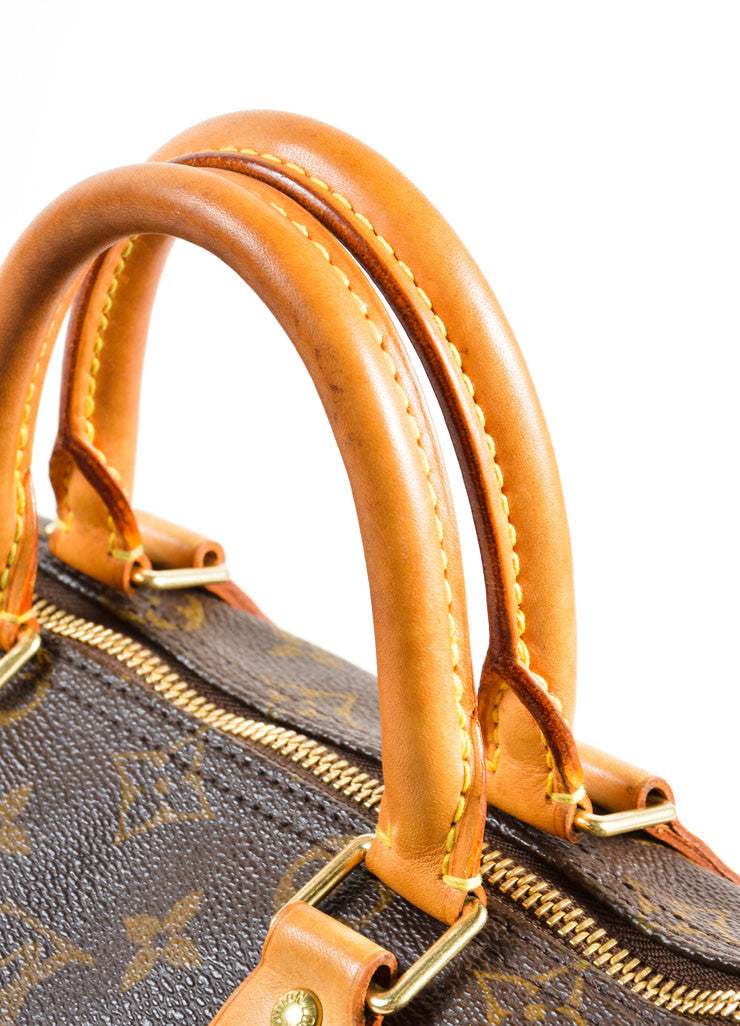 "Louis Vuitton Brown Monogram Canvas 25cm ""Speedy"" Bag Detail 3"