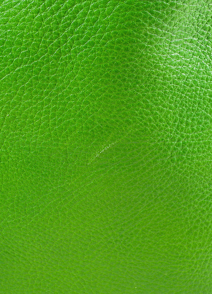"Proenza Schouler Kelly Green, Brown, and Black Leather ""PS11"" Tote Bag Detail 3"