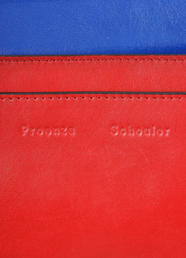 "Proenza Schouler New With Tags Red Leather Flap with Clasp ""Courier"" Shoulder Bag Brand"