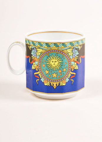 "Versace Rosenthal Multicolor ""Le Roi Soleil"" Espresso Cup Frontview"