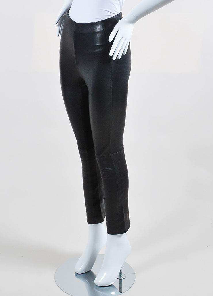 10 Crosby Derek Lam Black Leather Leggings Sideview