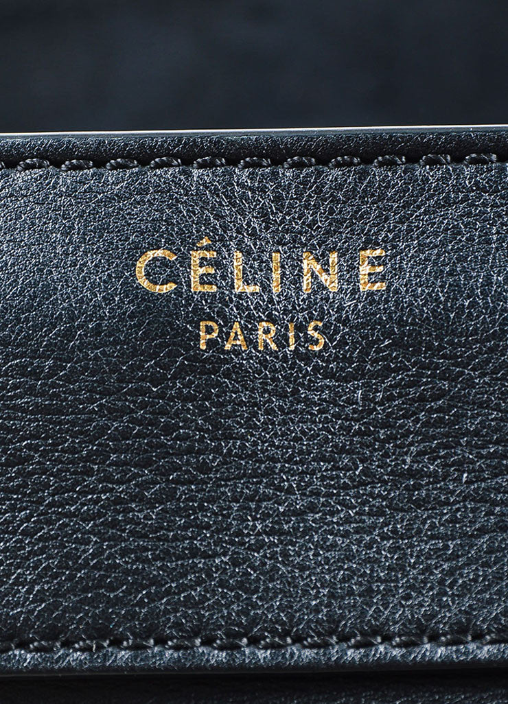 Black Celine Leather Luggage Tote Bag Brand