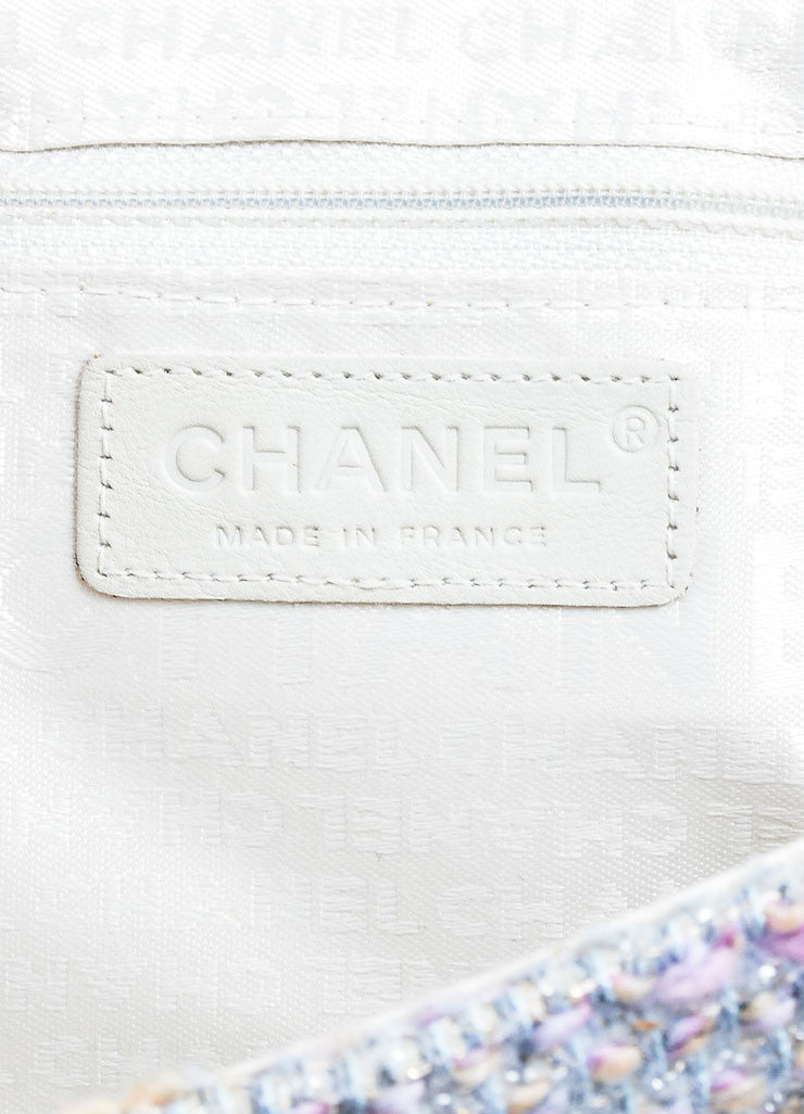 "Multicolor Chanel Pastel Tweed Classic ""Fantasy"" 'CC' Bag Brand"