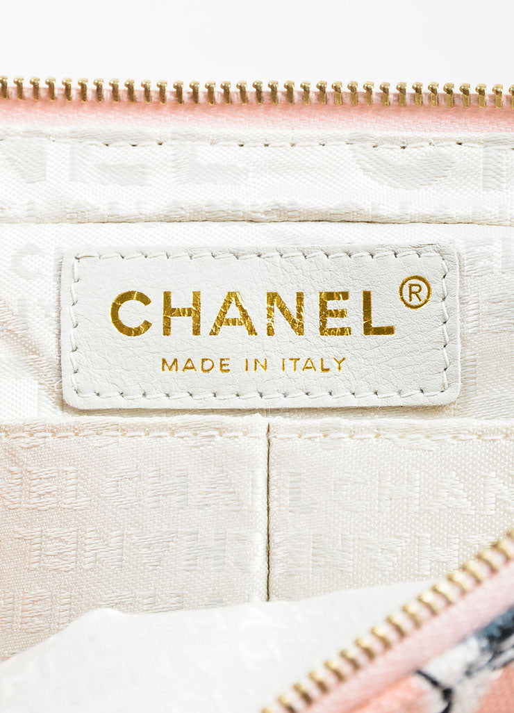 Chanel Pink Printed Canvas Ice Cream Sundaes Collection 'CC' Flap Bag Brand
