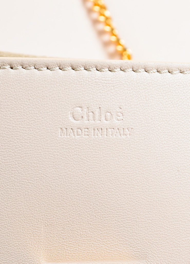 "Chloe NIB Limited Edition Blush Pink Leather ""Mini Drew"" Poker Shoulder Bag exterior"