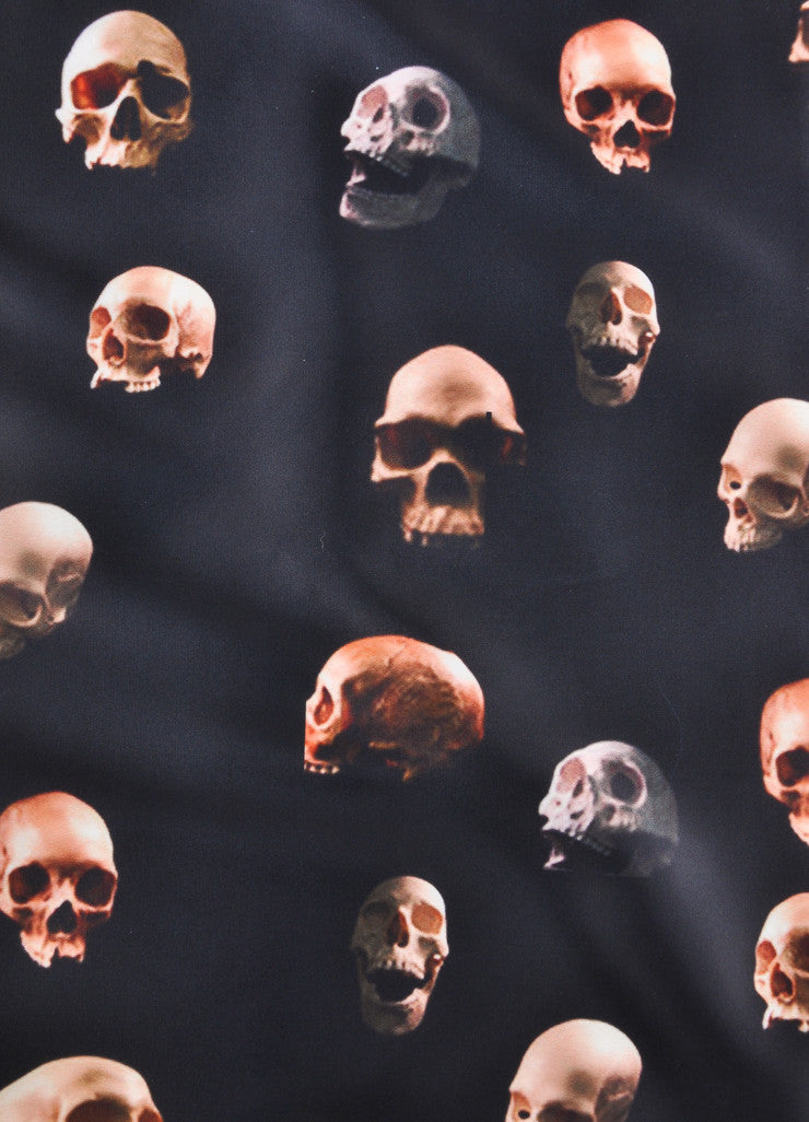 Givenchy Black Skull Scarf Detail 2