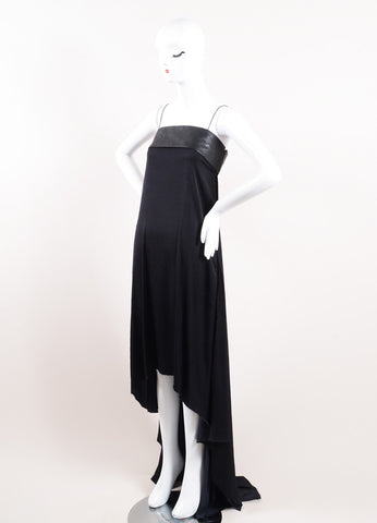 Haider Ackermann Black Leather Maxi Dress Side