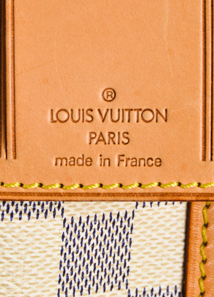 "Louis Vuitton Cream Navy Damier Canvas ""Keepall Bandouliere 55"" Bag Brand"
