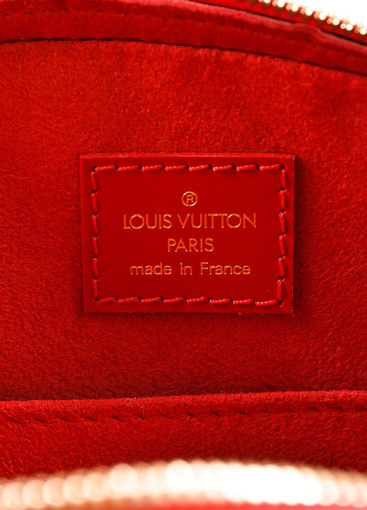 "Louis Vuitton Red Epi Leather ""Jasmin"" Handbag Brand"
