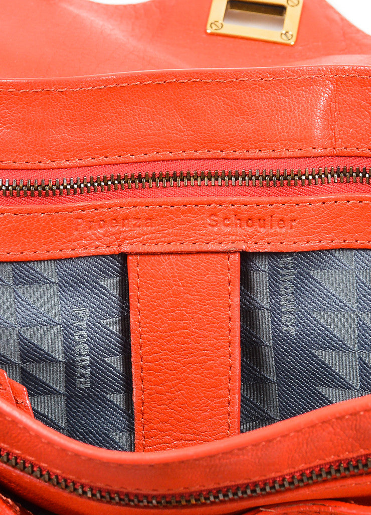 Red Proenza Schouler Leather Medium PS1 Satchel Bag Brand