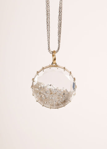 "Renee Lewis 18KT White Gold and 4.35CT Diamond Dust ""Shaker"" Necklace Detail"