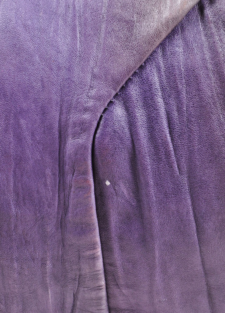 "Yves Saint Laurent Purple Multicolor Leather Ombre ""Easy Sac"" Satchel Bag Detail 4"