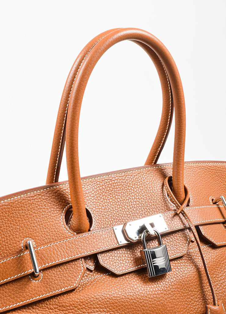 Caramel Tan Hermes JPG for Hermes Leather 42cm Birkin Detail 4