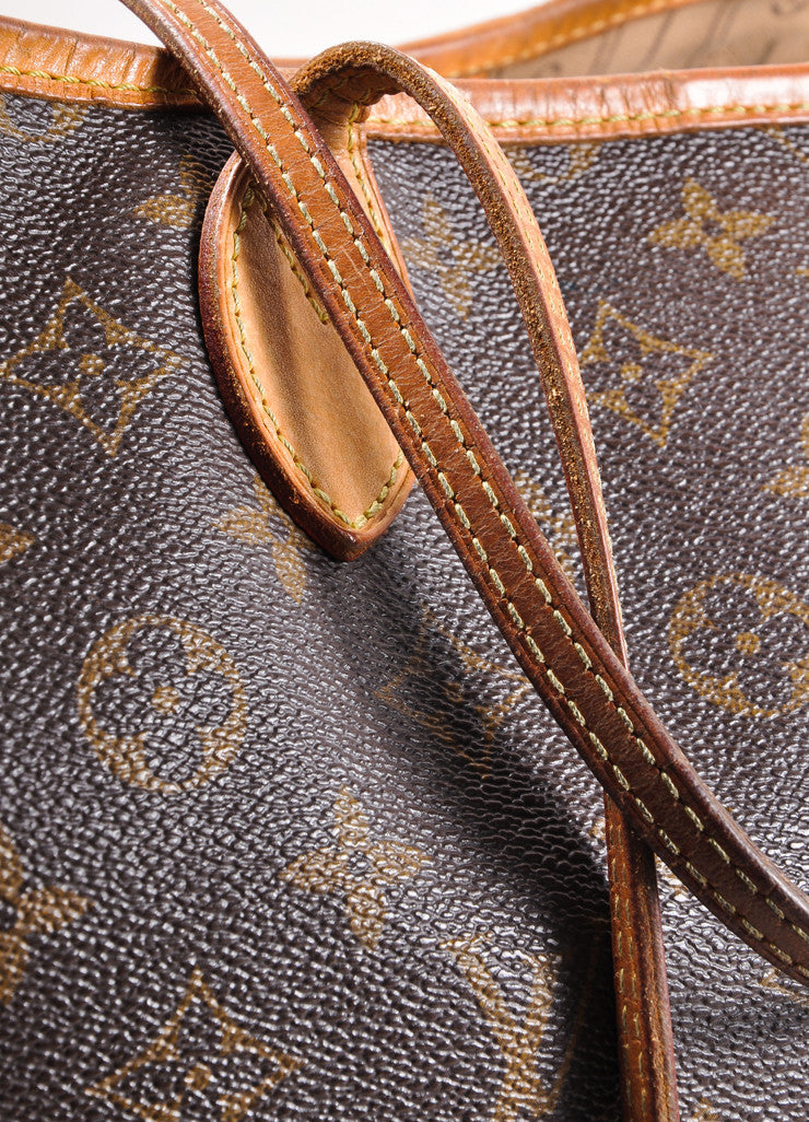 "Louis Vuitton Brown Monogram Canvas ""Neverfull GM"" Shoulder Tote Bag Detail 5"