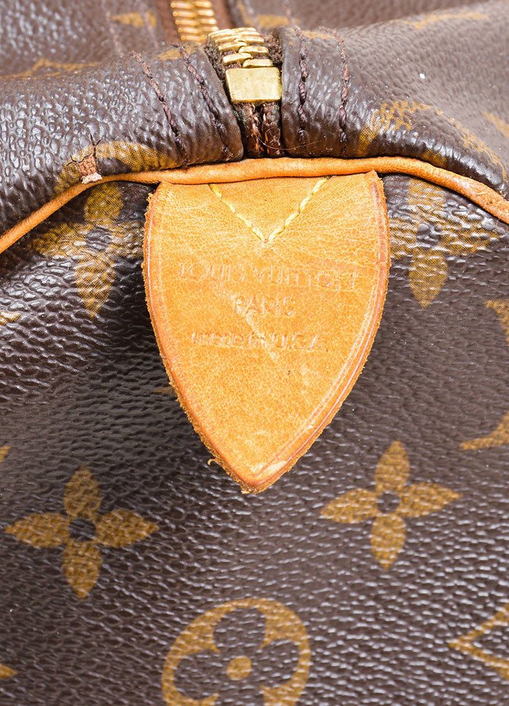 "Brown Louis Vuitton Monogram Canvas ""Speedy 30"" Handbag Brand"