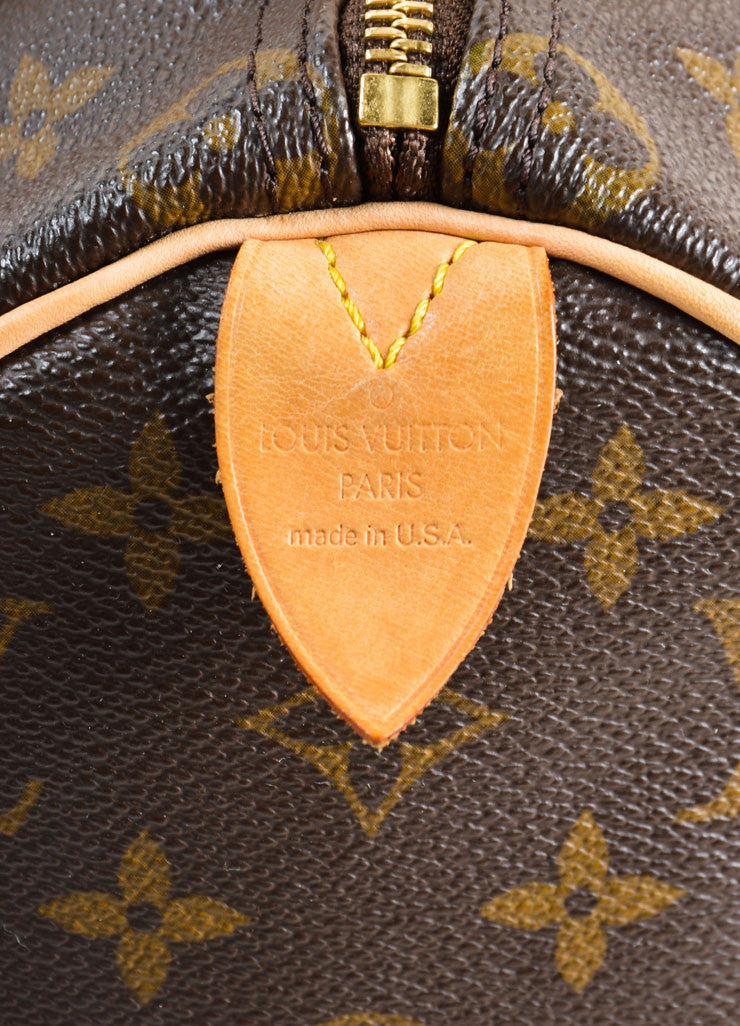 "Louis Vuitton Brown Monogram Canvas 25cm ""Speedy"" Bag Brand"