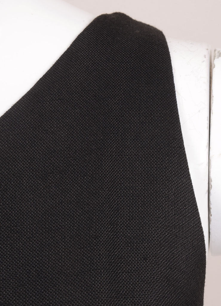 Phoebe Philo for Chloe Black Silk Knit One Shoulder Dress Detail