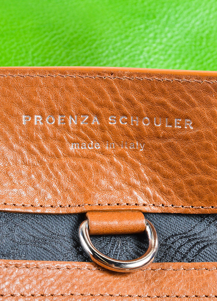 "Proenza Schouler Kelly Green, Brown, and Black Leather ""PS11"" Tote Bag Brand"