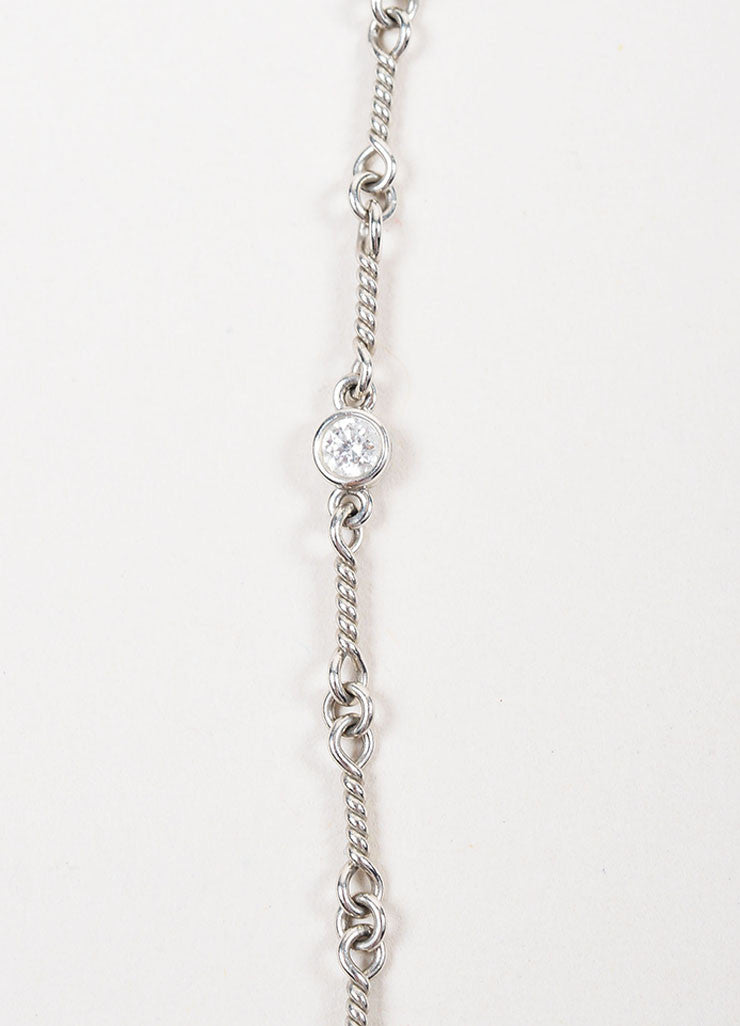 Tiffany & Co. Platinum Diamond Twisted Link Short Necklace Detail 2