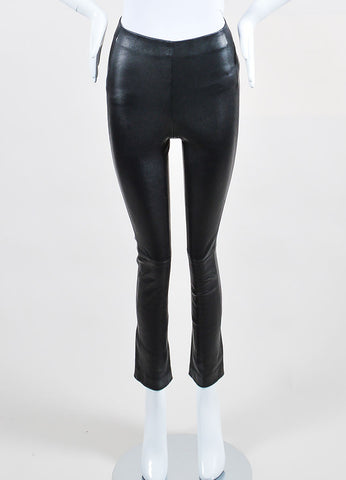 10 Crosby Derek Lam Black Leather Leggings Frontview