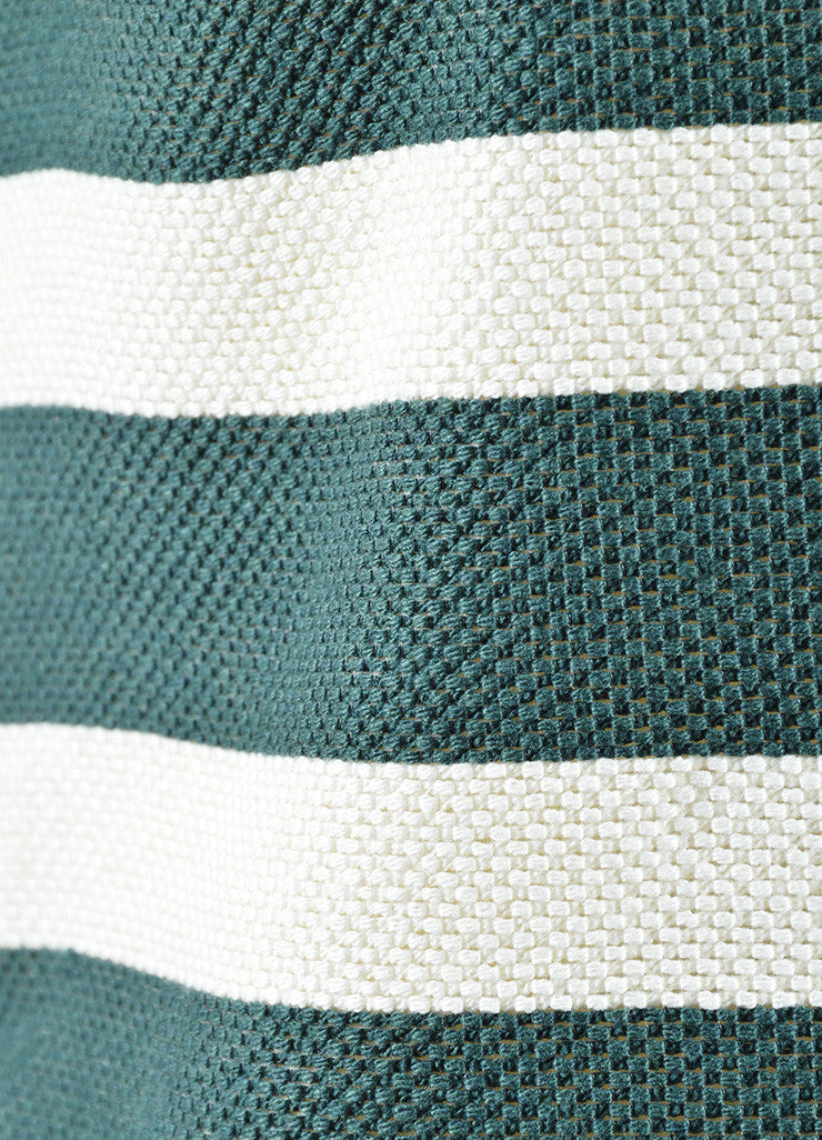 Derek Lam Green and Cream Striped Sleeveless Top Detail
