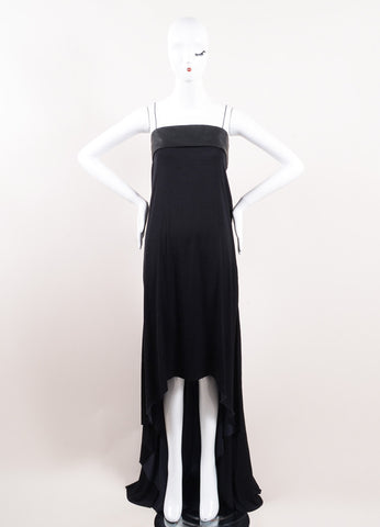 Haider Ackermann Black Leather Maxi Dress Front