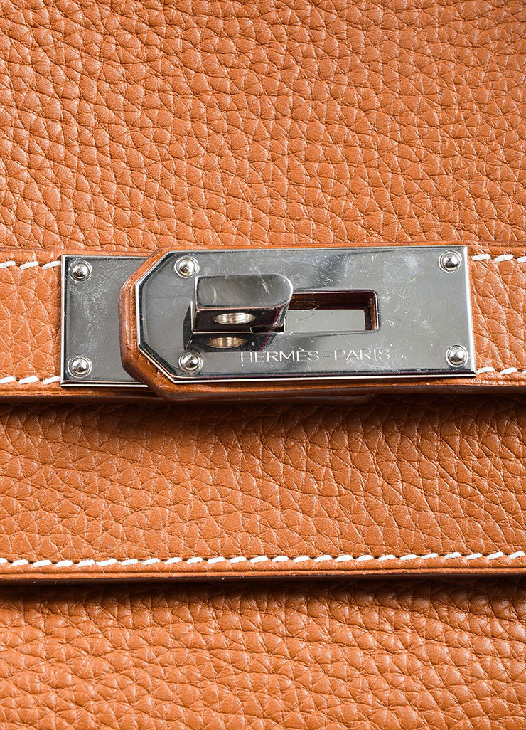 Caramel Tan Hermes JPG for Hermes Leather 42cm Birkin Detail 5