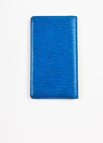 Louis Vuitton Blue Epi Leather Pocket Agenda Cover Backview