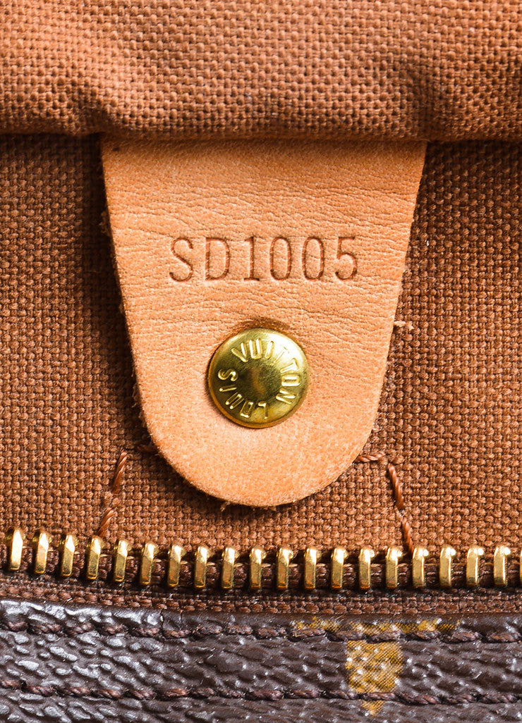 "Brown Louis Vuitton Monogram Canvas ""Speedy 30"" Handbag Serial"