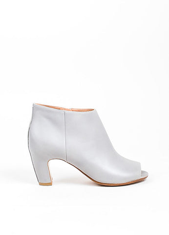 Grey Maison Martin Margiela Leather Peep Toe Booties Sideview