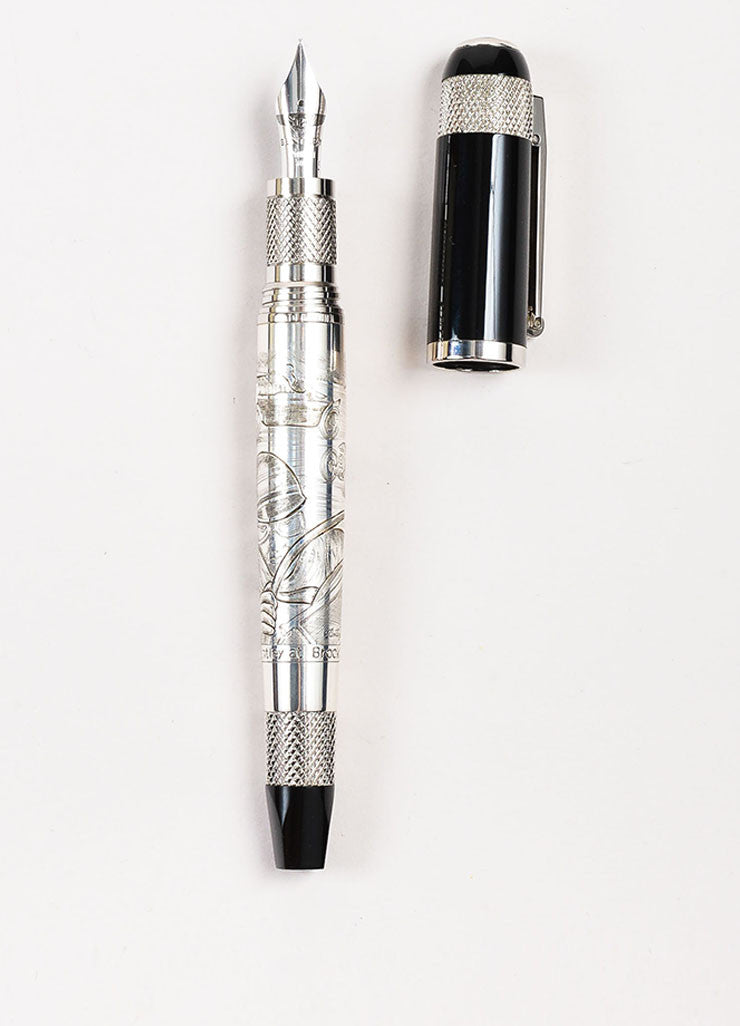 "Tibaldi x Bentley Black Palladium and 18K White Gold ""Brooklands"" Fountain Pen"