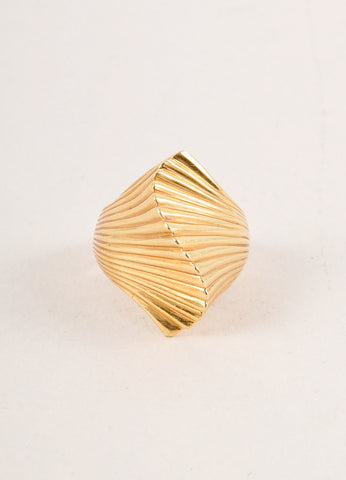 Cartier 18K Gold Wave Ring Frontview