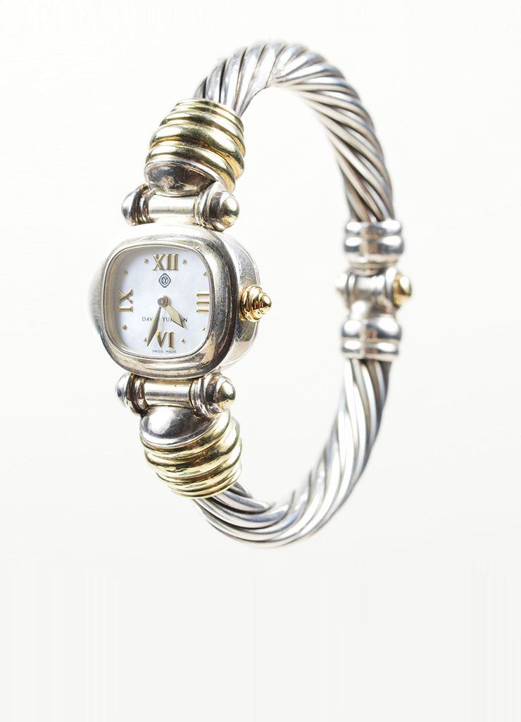 Sterling Silver and 14K Yellow Gold David Yurman Cable Watch Sideview