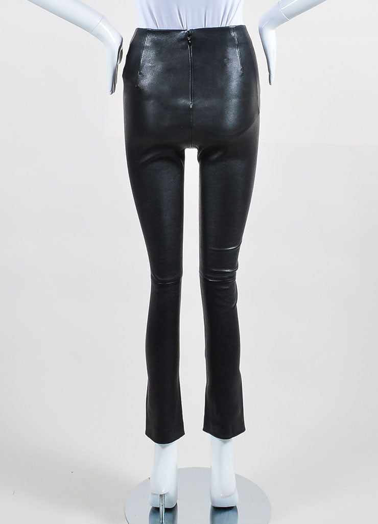 10 Crosby Derek Lam Black Leather Leggings Backview