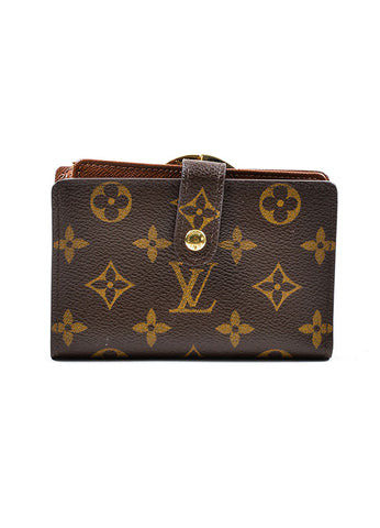 "Brown Louis Vuitton Monogram Canvas ""French Purse"" Wallet Frontview"