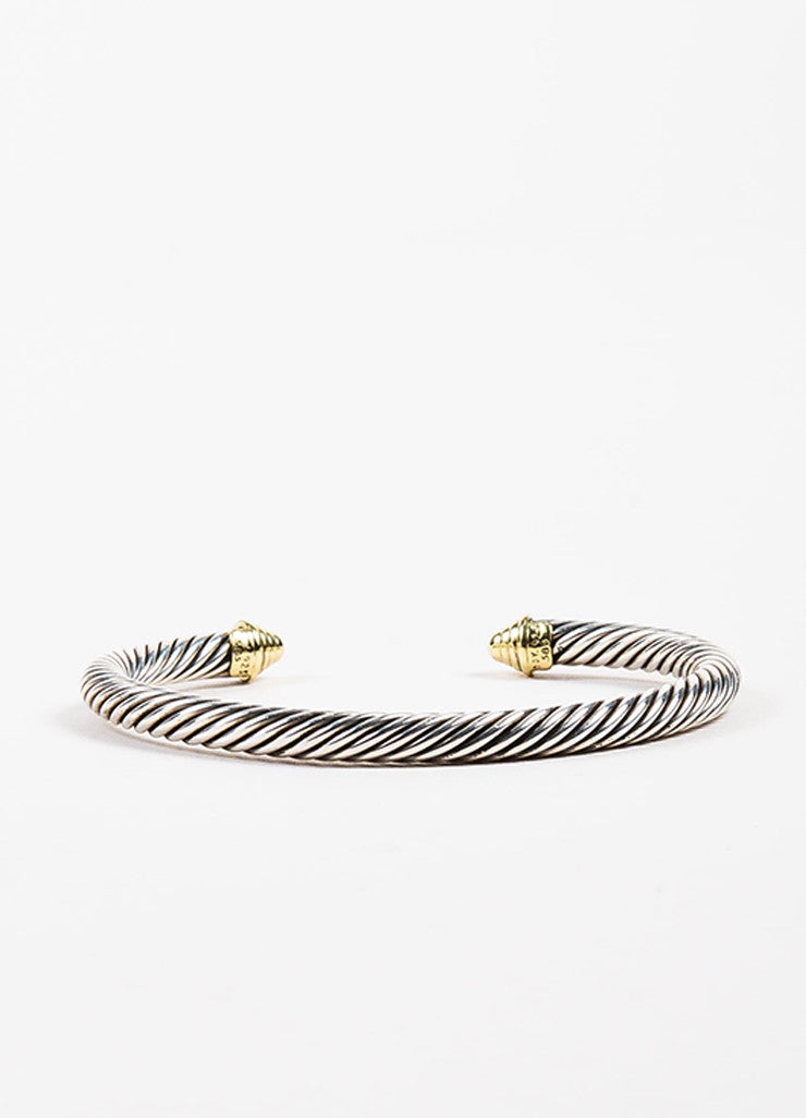 "David Yurman 14K Yellow Gold Sterling Silver ""Cable Classic"" Bracelet Detail"