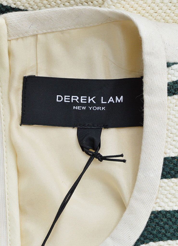 Derek Lam Green and Cream Striped Sleeveless Top Brand