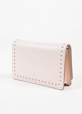 "Givenchy Pink Calf Leather Silver Stud "" 'Pandora Chain Wallet"" Clutch Bag Sideview"